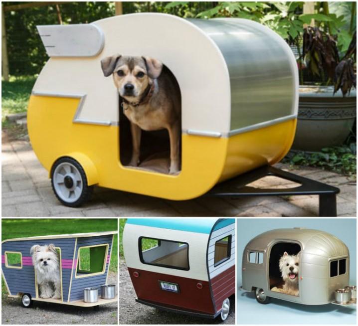 トレーラーハウス風の犬小屋