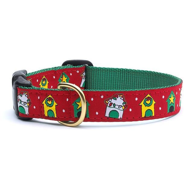 クリスマス柄の犬用首輪
